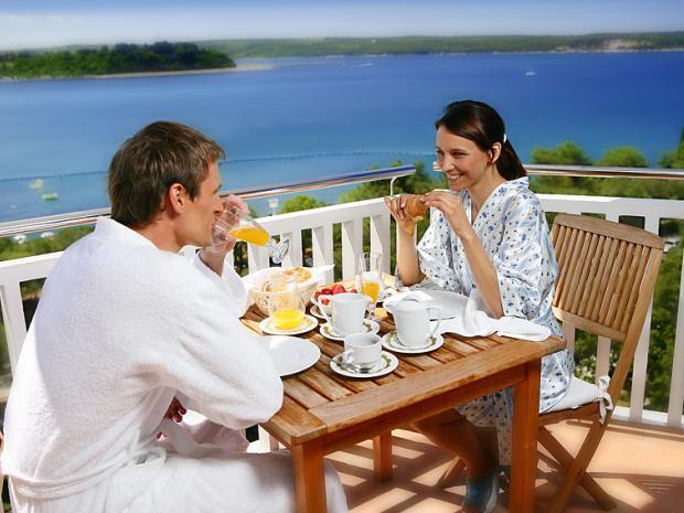 Hotel Riviera - doručak na balkonu