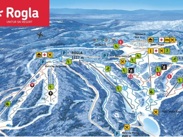 Rogla - mapa ski staza